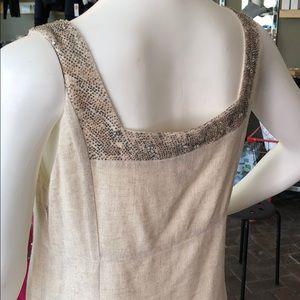dea9d78f392 Tory Burch Dresses - Tory Burch Khaki Linen Knee-length Dress w Beads